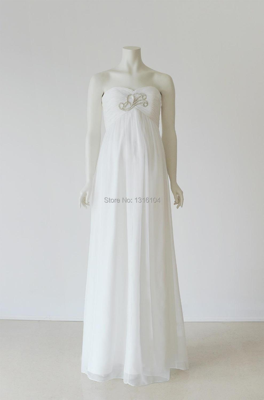 White long gown dresses for pregnant women promotion shop for White maternity wedding dress
