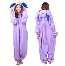 Animal Onesie Sleepwear Pokemon Go Pocket Monster Master Espeon Kigurumi Cosplay Costume Fleece Pajamas