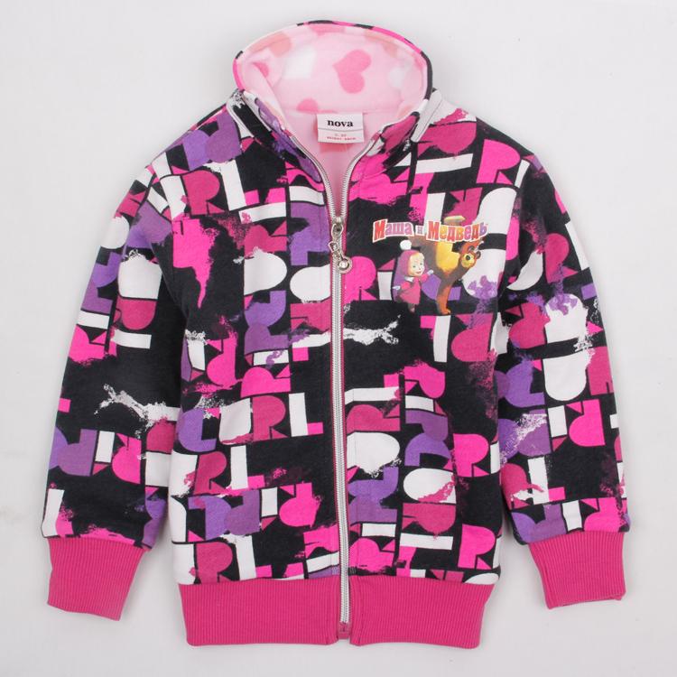 Girls coat Nova baby clothing new 2016 kids clothes spring/autumn jacket/hoodies girl's fashion embroidery jacket F3313