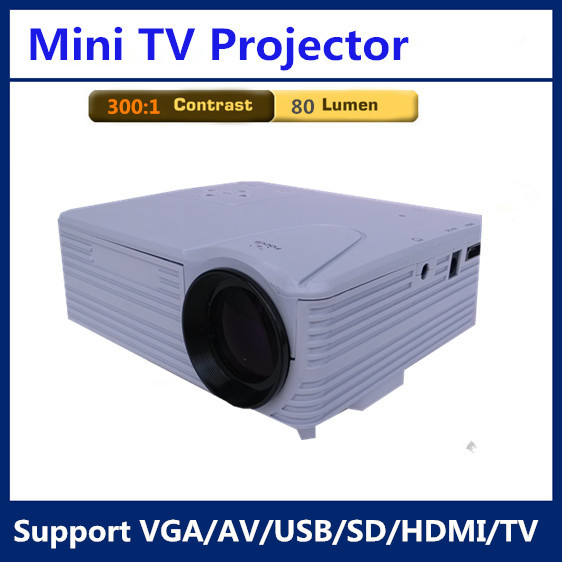 H100tv mini hd portable projector high definition led for Highest lumen pocket projector