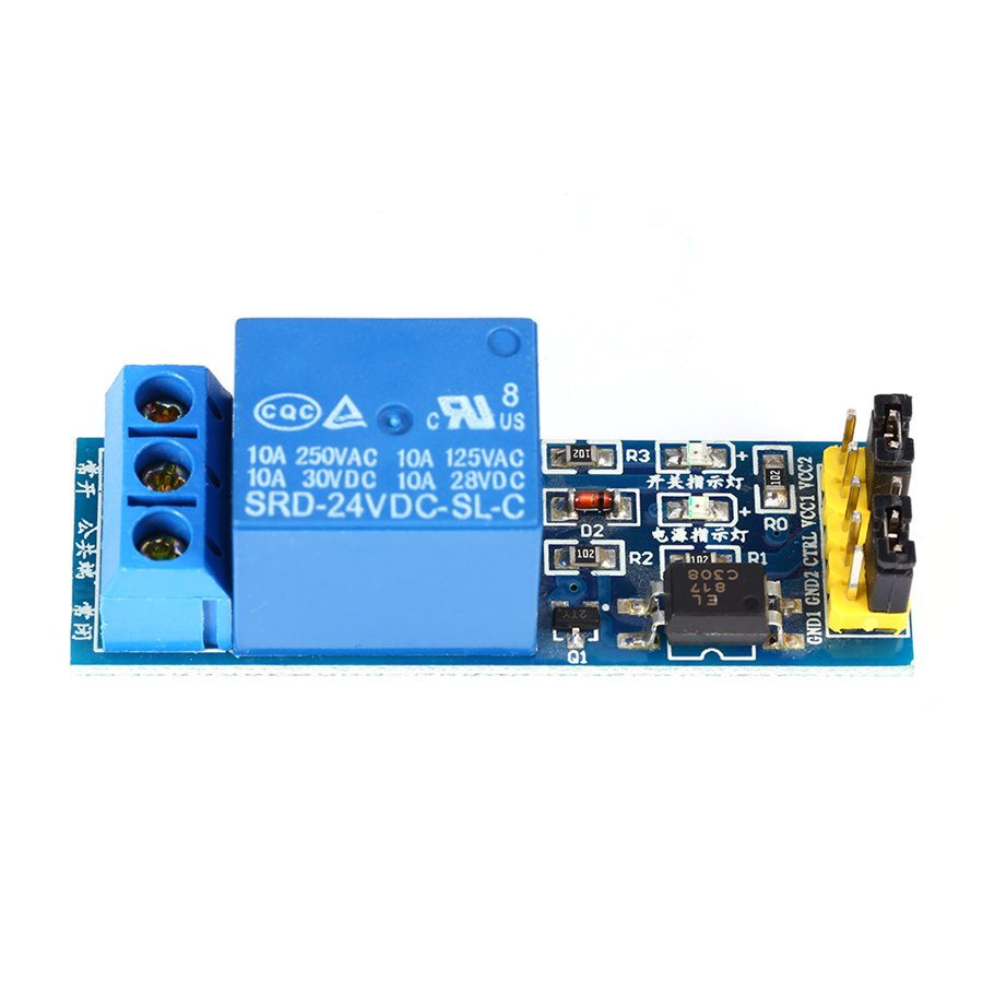 New 1 Pcs 24V 1-Channel Relay Module with Optocoupler Low Level Triger for Arduino Blue KF301 Terminal Optocoupler Relay Module(China (Mainland))