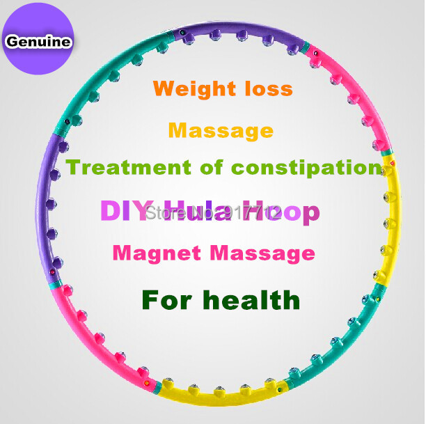 Lose Weight Sport Magnetic Massage Hula Hoop Hula Fitness Body Building PVC Material Blow molding magnets slimming hula hoops(China (Mainland))