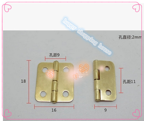 Crafts for wooden & jewelry box copper hinges crafts furniture hardware accessories 18MM*16MM(China (Mainland))
