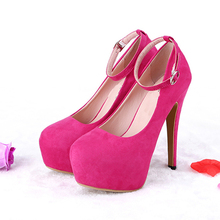 Buy 2017 New Shallow mouth High-heeled Shoes Woman Pumps Wedding Shoes Platform Fashion Women Shoes Red High Heels 13cm Suede Pumps for $28.76 in AliExpress store
