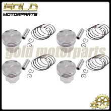 4 Pieces Motorcycle Piston And Rings For HONDA CBR400 NC23 CB400 1992 93 94 95 96 97 1998(China (Mainland))