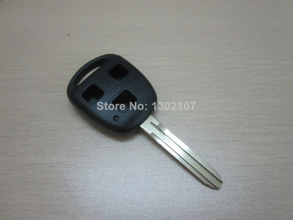 Without logo TOYOTA COROLLA RAV4 CAMRY 3 Button Remote Key blank With TOY43 Blade(China (Mainland))