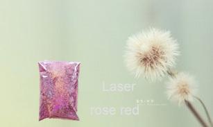 The Russian free shipping Nail Art Laser Rose Red Color glitter powder DIY Nail Polish Nail Art for Lady Girl 50g/bag(China (Mainland))