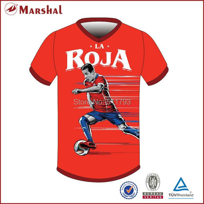 2015 Free Shipping Sublimation Printing 100% Polyester  Soccer Jerseys China(China (Mainland))