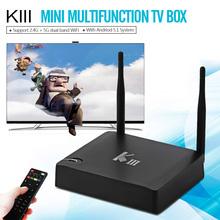 KIII Android 5.1.1 TV Box 2G/16G Amlogic S905 2.4/5G Double WiFi DLNA Airplay KODI XBMC Quad-Core UHD 4 K 3D Miracast L'UE/NOUS(China (Mainland))