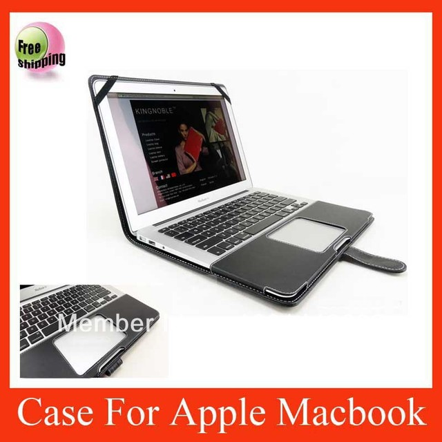 """ON SALE smart PU leather cover case for Apple Macbook Air 11"""" black color CPAM free shipping"""