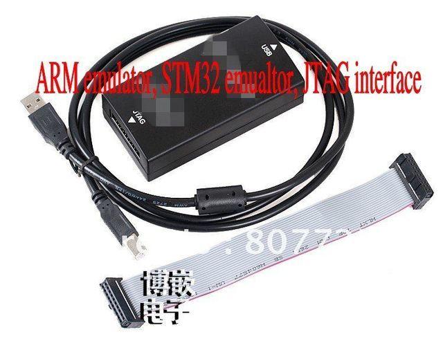 Free Shipping ! ARM emulator, STM32 emulator, USB 2.0 JTAG interface,TVS+FUSE ,Automatic upgrade
