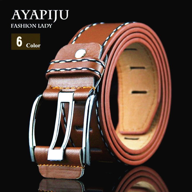 New Fashion Casual Belts Designer young Men & woman High Quality Belts male&female Jeans with Prevent allergies PU Belts 2016(China (Mainland))