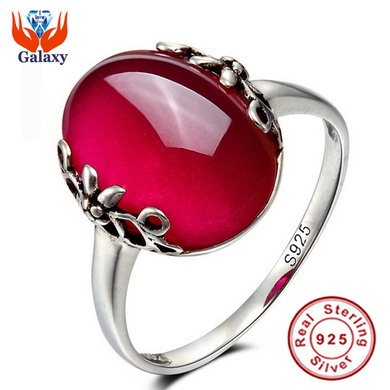 Promotion!!! 2016 Latest Fashion 925 Sterling Silver Opening Ring Natural Red Jade Ruby Adjustable Size Rings for Women BKJZ012(China (Mainland))