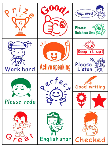 (16 Pcs/Set,10 Sets/Lot) English Teacher Homework Encourage Reviews Clear Stamp,Kid Cartoon Wood Stamp Toy Best For scrapbooking(China (Mainland))