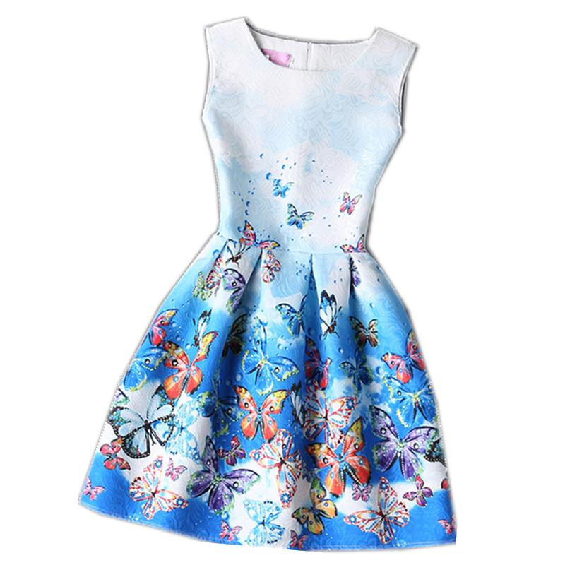 Baby Girl Dress Rose Floral Pattern A-Line Princess Dress Girls European Style Baby Dress Brand Designer Kids Clothes 5-12Y(China (Mainland))