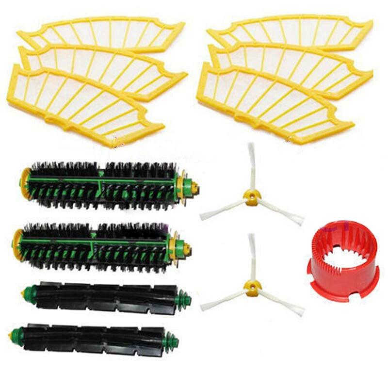 Free Post New Side brush Filter 3 armed kit For iRobot Roomba Vacuum 500 Series Clean Tool(China (Mainland))