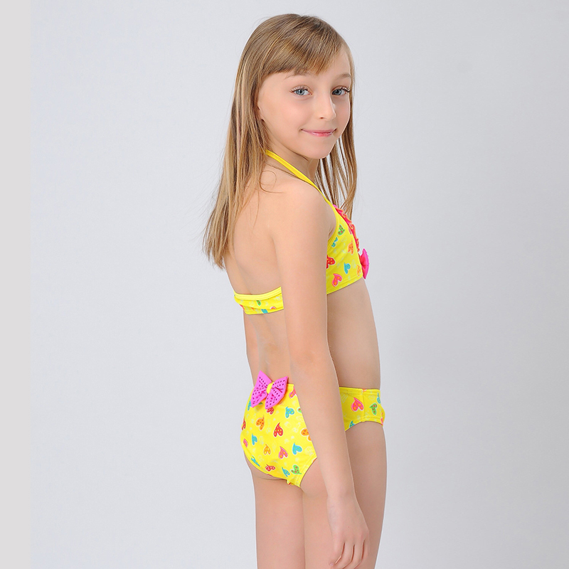 Little Girls in Swimwear Halter Little Girl Bikinis