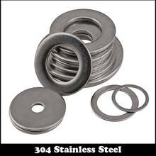 50pcs M3 M3*14*1 M3X14X1 (ID*OD*Thickness) 5# 304 Stainless Steel SS DIN125 Washers Plain Plat Washer(China (Mainland))