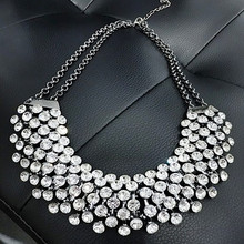 Buy Collier Femme Trendy Crystal Statement Necklaces Pendants Women Fine Jewelry Multi layer Link Chain Necklace Bijoux Colares for $5.86 in AliExpress store