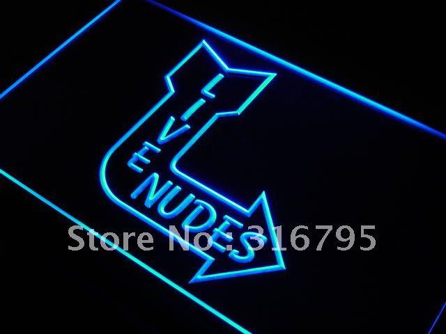 j978-b Live Nudes Sexy Lady Night Club Bar LED Neon Sign(China (Mainland))