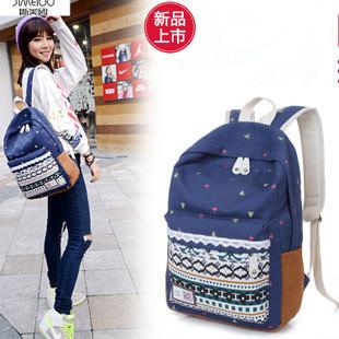 Ethnic Style Girls Backpack Shoulder Satchel School Bag Packbag Canvas Backpacks Small Backpack for Women School Bags(China (Mainland))