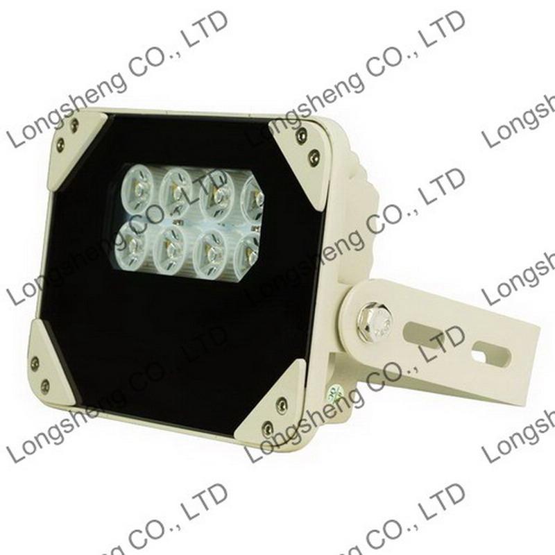100M 8 Pcs Array LEDs IR Illuminator 850nm for CCTV Security cameras 14w IP66(China (Mainland))