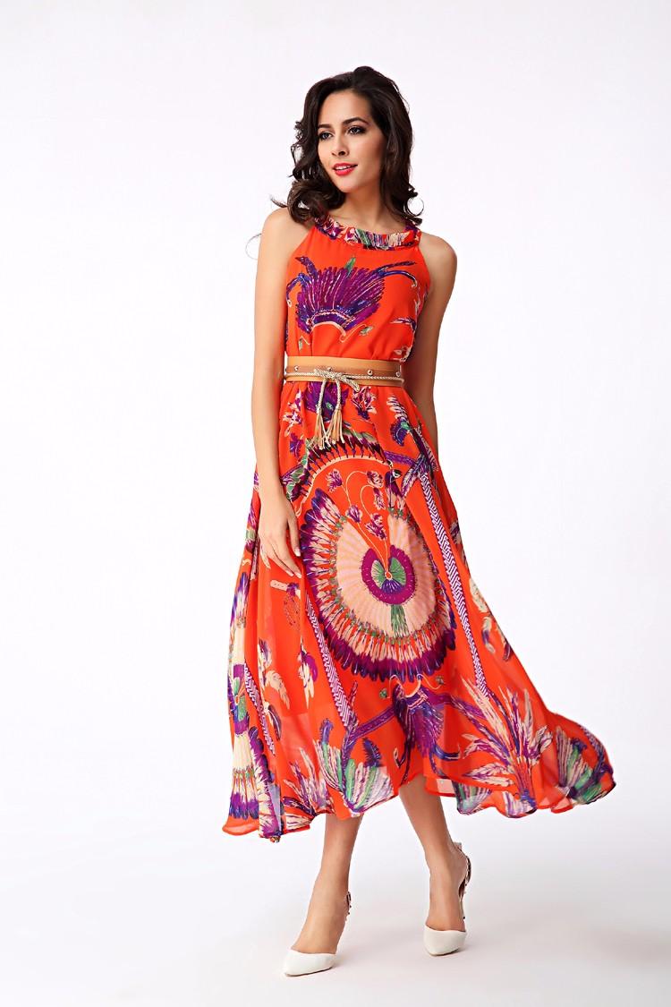 2016 женская чешские платья гавайи отдыха стиль подсолнечника цветочные печатный лето женщины-бич платье,L Xl ( r. Мелодия YHM010 )
