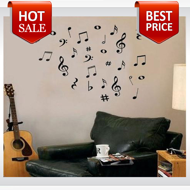 42 Vinyl MUSIC Musical NOTES Variety Pack Wall Decor Decal Sticker nursery wall decal kids room decoration wallpaper(China (Mainland))