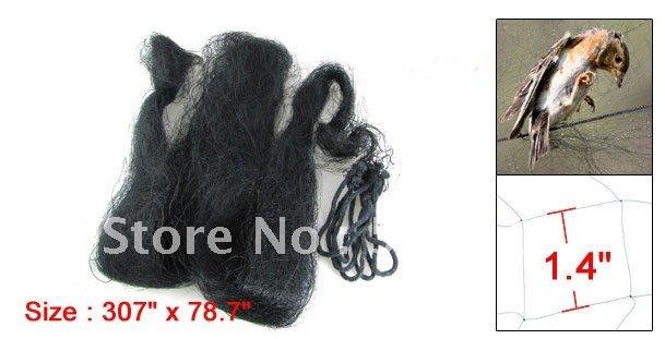 Best Promotion Wholesale Price 7.8 x 2 Meter Anti Sparrow Bird Net Mesh Black for Garden 3Pcs/lot(China (Mainland))