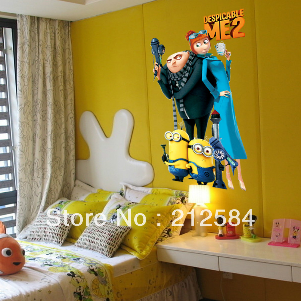 Minion Bedroom Wallpaper Decal Stickers For Motorcycles Picture More Detailed Picture