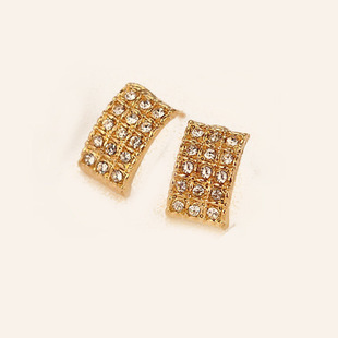 Promotion! ! Fashion lady women earrings elegant all-match rhinestones geometric rectangle alloy stud ER545 - Shero Shop(Min,order $ 10+Gift store)