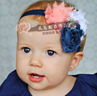 Baby Children Flower Pearl Infant Toddler Girl Headband Clips Hairband Hair Band Accessories Drop Shipping 11Colors(China (Mainland))