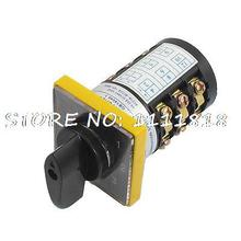 Lock 0-1-2-3-4-5-6 Position AC 500V 50Hz 20A Cam Combination Changeover Switch