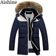 2016 Men'S -40 Degree Duck Down Jacket Mens Brand Designer Warm With Luxurious Fur Collar Hooded Outwear Winter Coats PJK99(China (Mainland))
