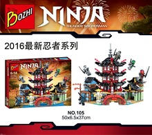 737pcs 2016 Bozhi 105 Ninja Super heroes Temple of Airjitzu Building Blocks Toys Gift Minifigures Compatible With Lego 70751