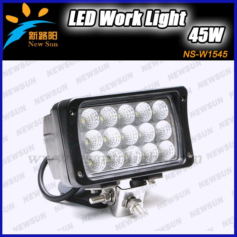 "Фотография 45W 6"" LED Work Light Spot Lamp For Mine 4WD 4x4 ATV Boat Truck, Car Work Light Lamp Off Road Light Headlight 12V 24V"
