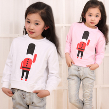 2~11 age New 2014 Spring Sweatshirts brand t shirt children's wear soldiers High quality children wear Hoodies for girls C008(China (Mainland))
