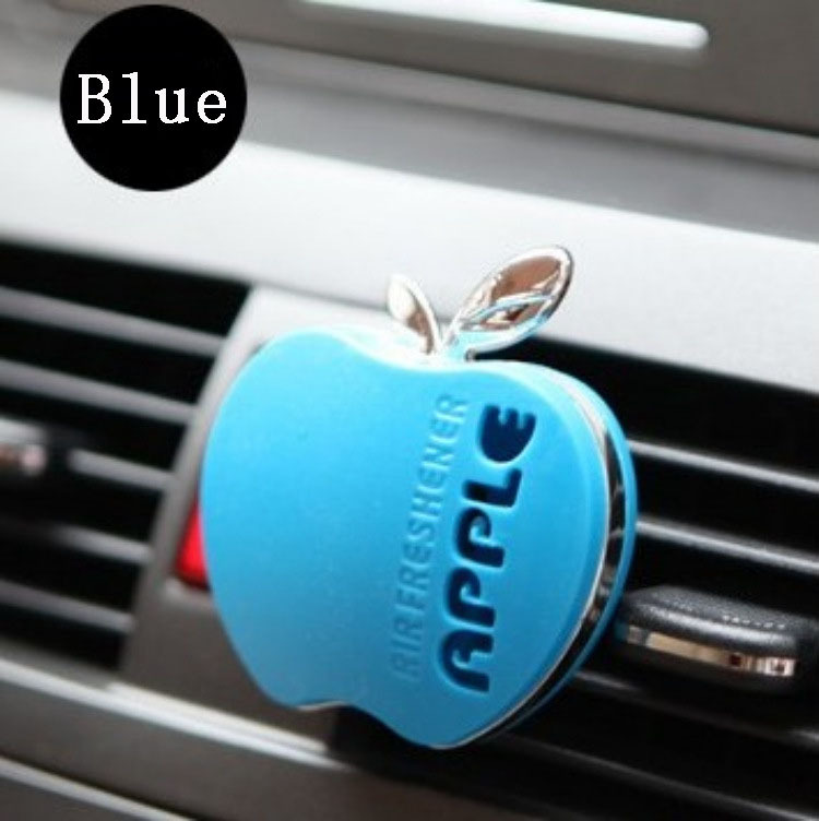 2015 Candy colored apple shaped air freshener, perfume car exhaust diffuser export auto parts 5 color(China (Mainland))