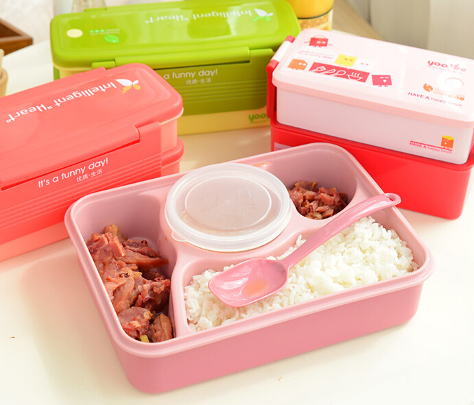 4 style double tier bento lunch box japanese plastic food container box single microwave. Black Bedroom Furniture Sets. Home Design Ideas