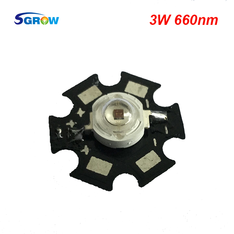 3W Deep Red 660nm with pcb star,45mil Epileds led grow light chip for plant grow and flower(China (Mainland))