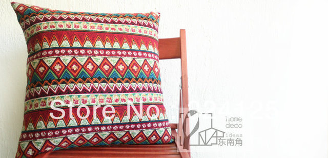 2pcs 45*45cm High quality Bohemian national cotton thickening Jacquard cushion cover pillow cases Free Shipping