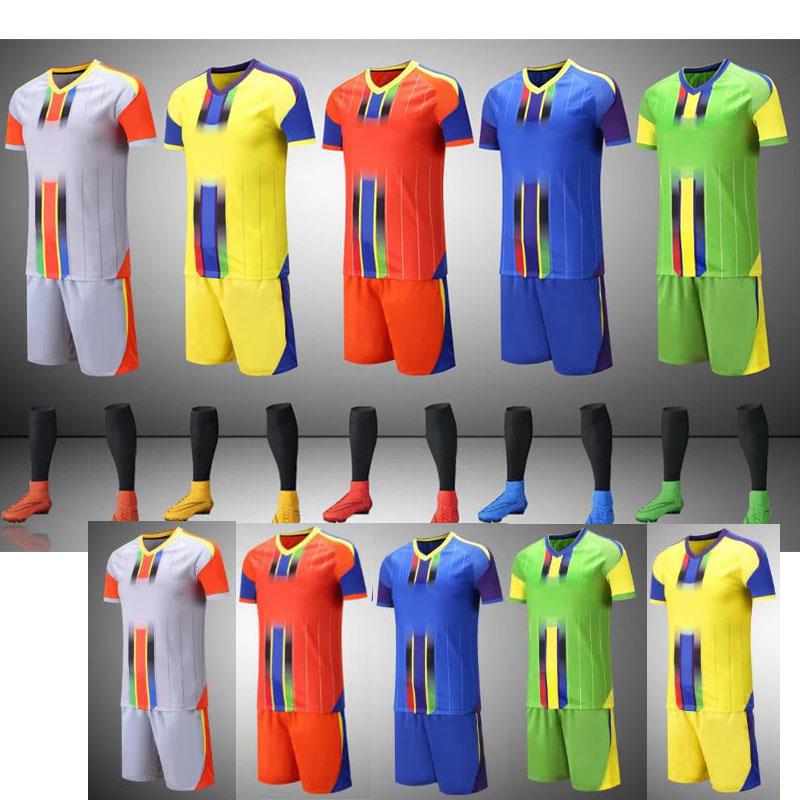 2016 2017 New Soccer Football Jerseys Kits Grey Yellow Red Green Blue Men Football Soccer Jerseys Unifroms DIY you team logos(China (Mainland))