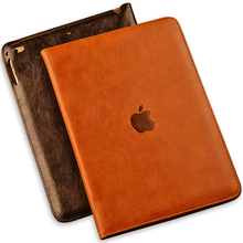 Luxury Top Crafted Shockproof Automatic Wake Sleep Smart Cover Leather Case for IPad Air 2 IPad 5 IPad 6(China (Mainland))