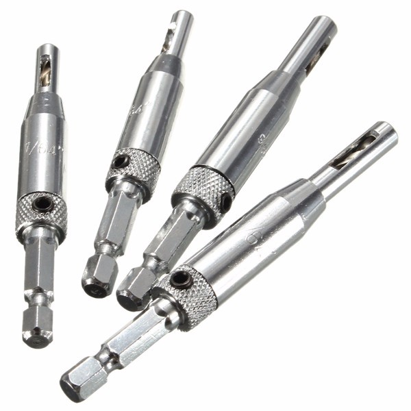 High Quality 4pcs Door Lock &amp; Hinge Drill Bit Set Self Centering Pilot Hole HSS Hex Shank Wood Tool Hole Saw DIY New Arrival<br><br>Aliexpress