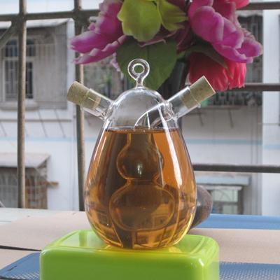 Kitchen Supplies / Gourd Glass Bottle / Jar sauce / Oil Bottle Vinegar / Cruet For Seasoning / Oil And Vinegar Bottle for oil(China (Mainland))