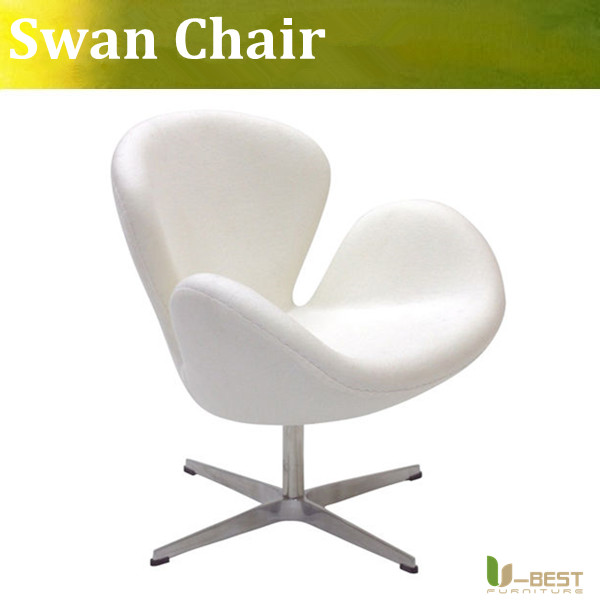 U-BEST Modern fashion office chair designer swan Swivel chair white color Coffee sofa chair(China (Mainland))