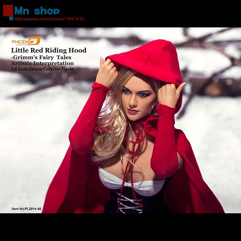 Phicen PL2014-48 1/6 Little Red Riding Hood Grimm Fairy Tales Artistic Large Bust Seamless Body 1:6 Deluxe Collector Figure