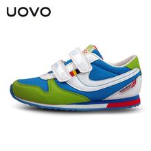 UOVO 2016 хит цвет мода детская shoes brand shoes school shoes for teen девочек и мальчиков размер 25-38(China (Mainland))