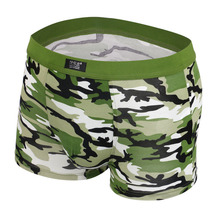 Mens Underwear Plus Size Men's Boxer Shorts Fashion Breathable Modal Boxer Sport Tide men Soldier Camouflage underwear(China (Mainland))