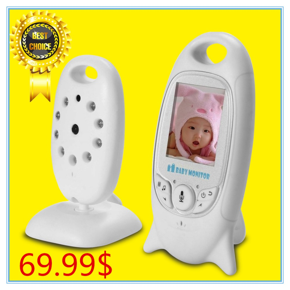 Fetal Doppler Infant Baby Sleep Monitor Wireles Safety Electronic Babysitter Digital Video For Vision Music Temperature Display(China (Mainland))